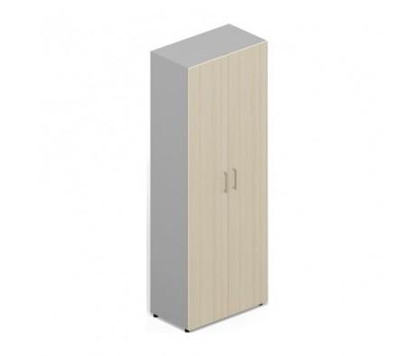 Шкаф 80х60х195 для одежды 2 двери, 1 полка+штанга, ручки алюминий Polo
