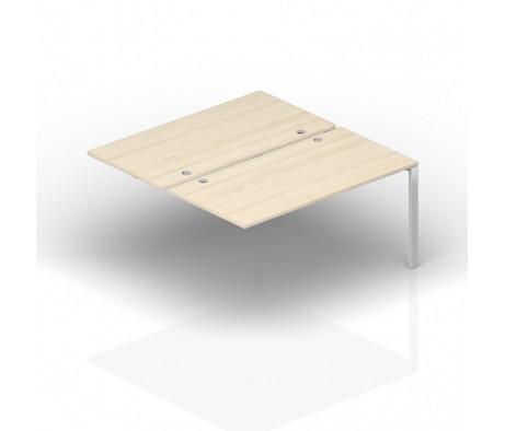 Составной стол на 2 рабочих места 140х165х72 4 громмета, приставной элемент Strike