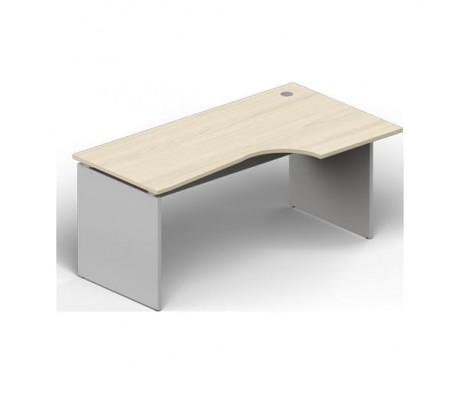 Стол 140х90х72 левый, 1 громмет Domino