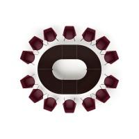 Стол 310х240х73,5 для совещаний модульный металлические опоры - Композиция 9 Multimeeting
