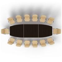 Стол 400х126х73,5 для совещаний модульный металлические опоры Multimeeting