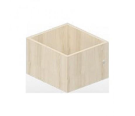 Ящик вкладной малый с замком для стеллажа 38,5х43,2х24,6 Polo, Спэйс