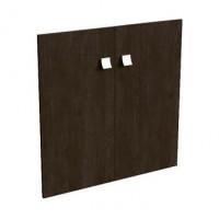 Комплект низких деревянных дверей 77x77x1,6 Blackwood