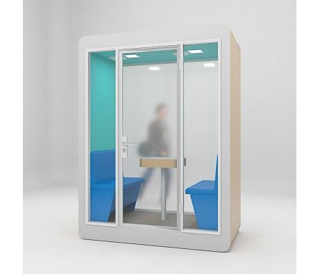 Акустическая кабина LWOP DOUBLE (задняя стенка стекло)