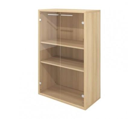 Шкаф низкий 800х400х1250 стекло прозрачное Дублин
