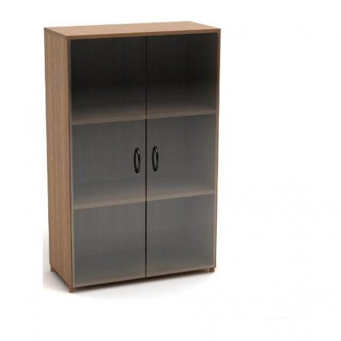 Шкаф низкий со стеклом (700х350х1126) К10ц Канц