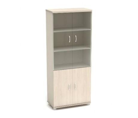 Шкаф высокий со стеклом 855х442х2076 К8 Модерн