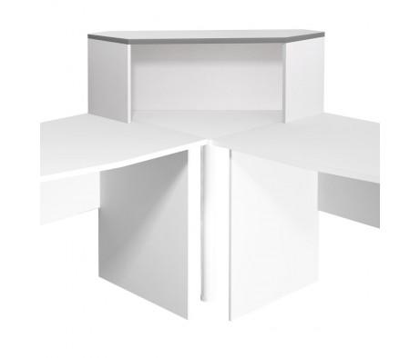 Надстройка на стол угловая 996х264х346 Монолит
