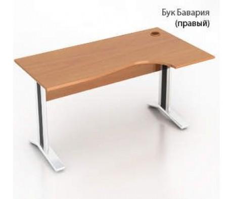 Столешница+царга 1404х904(704)х22 прав. стола крив. Монолит